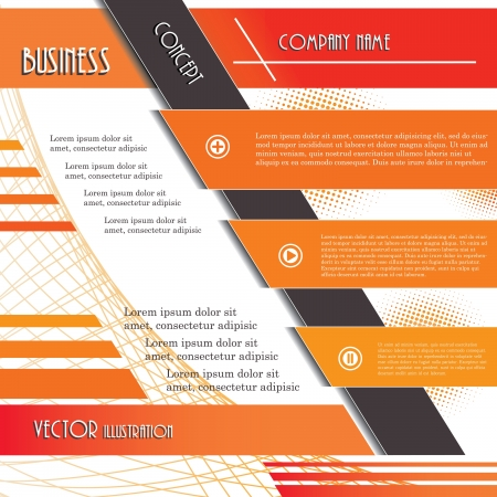 Modern design background for business  Vector illustration template Vector
