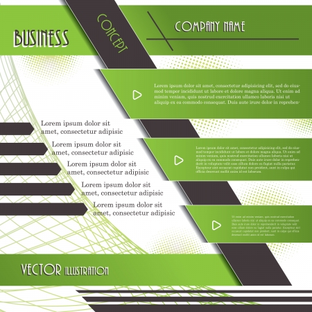 magazine page: Modern design background for business  Vector illustration template