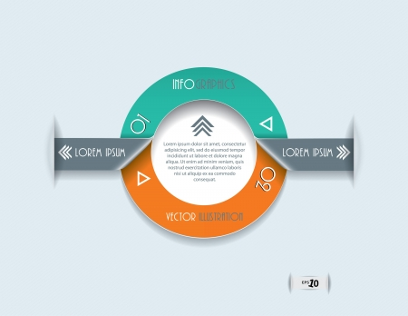 Modern Infographics template  Circle design for  business  Vector illustration  Vector