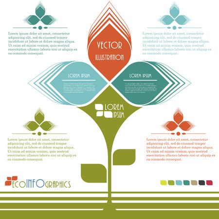 Modern design Ecology business template   イラスト・ベクター素材