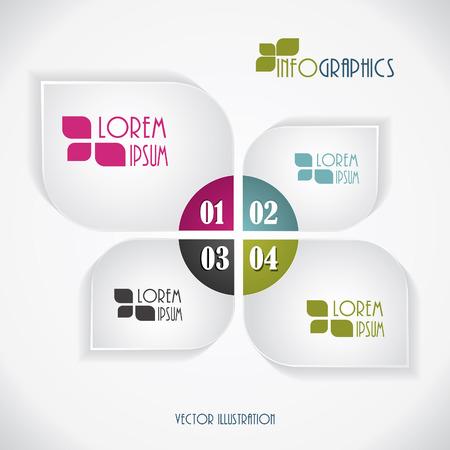 現代のビジネスのインフォ グラフィック テンプレート  イラスト・ベクター素材