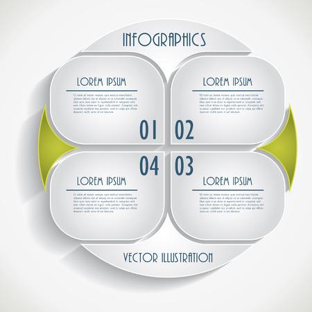抽象的なインフォ グラフィックのビジネス テンプレート