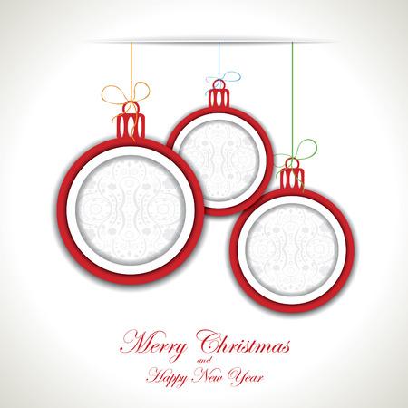 Abstract Christmas background with christmas toys Ilustração