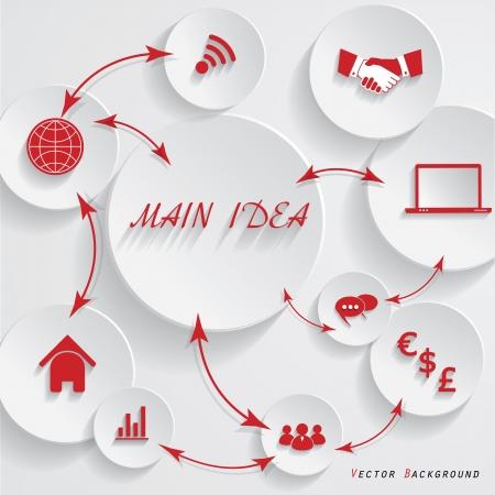 dea: Modern design for your business presentation  illustration Illustration