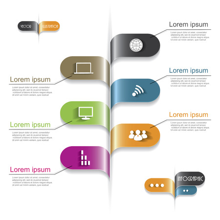 version: Modern infographic template, design for your business Illustration