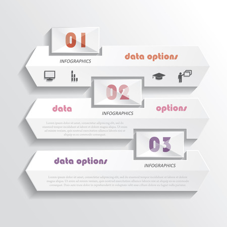 numbering: Modern infographics design with numbers  illustration  can be used for web design, graphic or website layout , diagram, number options, education process