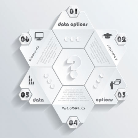 Modern infographics design with numbers  illustration  can be used for web design, graphic or website layout , diagram, number options, education process