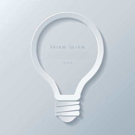 Modern idea lightbulb icon  banner template can be used for your business, web design, graphic, plan, concept idea , diagram, options, education