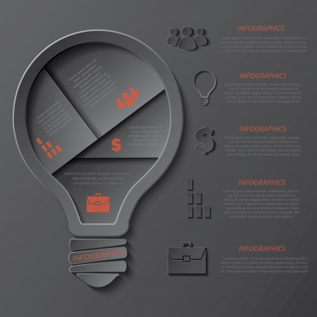 Modern template infographics design with lightbulb  can be used for your business, web design, graphic or website layout , diagram, workflow layout, education