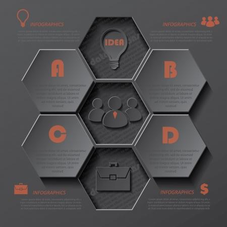 モダンなインフォ グラフィック使用できるデザイン テンプレートが、ビジネス、web デザイン、グラフィックやウェブサイトのレイアウト、図、ワ  イラスト・ベクター素材