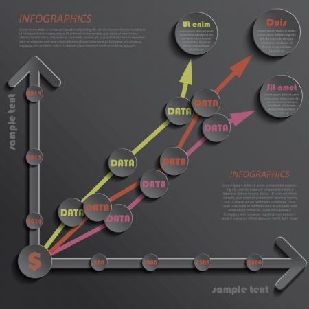 Modern template infographics design data presentation indicators for your business  Vector illustration Vector