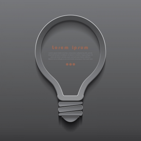 Vector idea light bulb icon banner template can be used for your business, presentation, web design, graphic, plan, concept idea, diagram, options, education