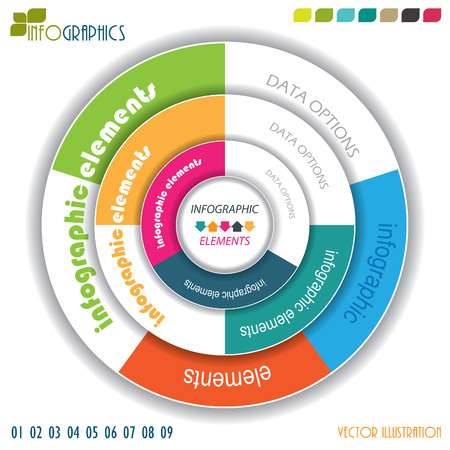 Modern vector infographic template with circle, design for your business presentation Vector