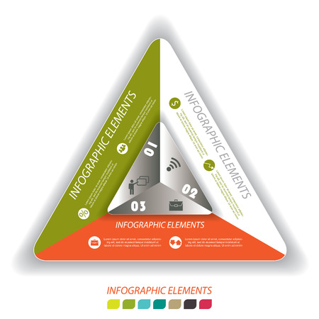 Modern vector infographic template with triangle, design for your business presentation Vector