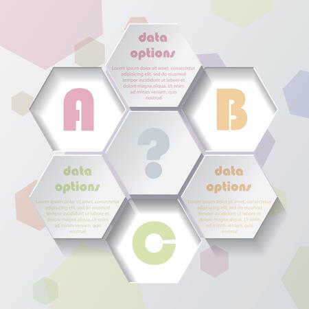 Web デザイン、グラフィックや web サイトのレイアウト、図、番号オプション、教育ビジネス プレゼンテーションのモダンなベクター インフォ グラ  イラスト・ベクター素材