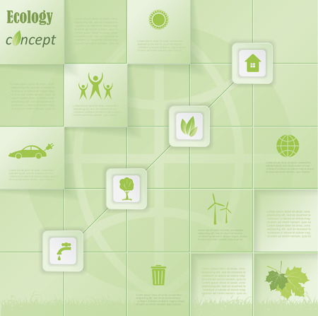 Modern vector ecology concept infographic template design for your presentation Vector