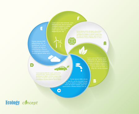 earth system: Modern vector ecology infographic template design for your presentation
