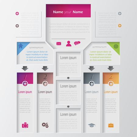ベクトル マルチレベル インフォ グラフィック デザイン テンプレート  イラスト・ベクター素材
