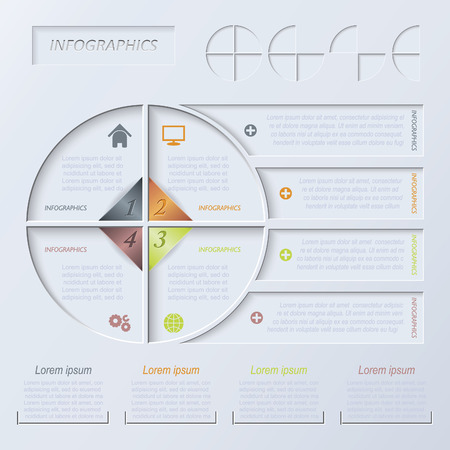 Vector circle infographic design template Vector
