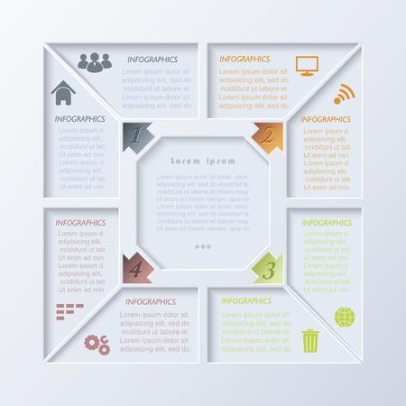 ベクター近代的なインフォ グラフィック デザイン テンプレート