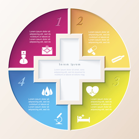 Abstract concept of medicine with  medical and healthcare icons  Vector illustration Vector