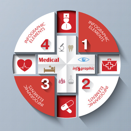 medical report: Abstract concept of medicine with  medical icons  Vector illustration