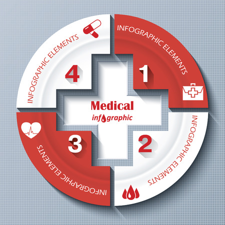 Modern template for medical project or presentation. Vector