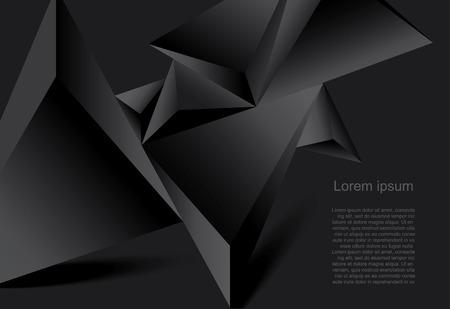 preto: Fundo preto abstrato forma poligonal geom