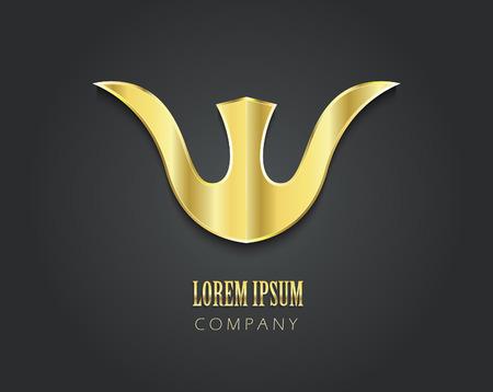 figure logo: Resumen de vectores de oro s�mbolo de su empresa en forma de tulip�n Vectores