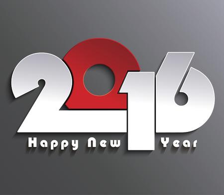 新年あけましておめでとうございます 2016年創造的なグリーティング カードのデザイン