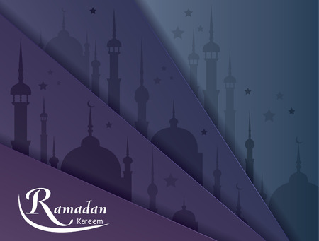 greeting card background: Ramadan Kareem greeting card vector background
