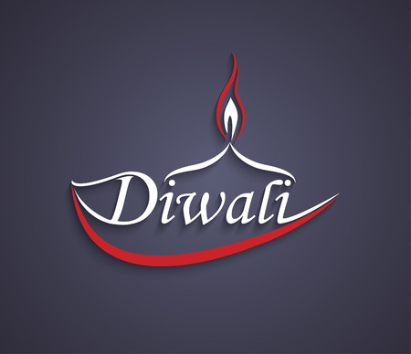Vector Art Diwali text design.