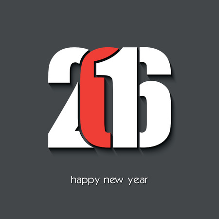 2016 新年あけましておめでとうございます創造的なグリーティング カード デザイン  イラスト・ベクター素材