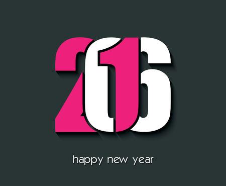 calendrier: 2016 conception créative Bonne année pour votre carte de voeux, des dépliants, d'invitation, affiches, brochures, bannières, calendrier