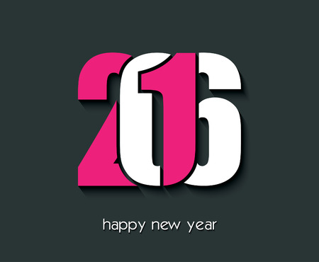 new year's eve: 2016 Happy new year creative design for your greetings card, flyers, invitation, posters, brochure, banners, calendar