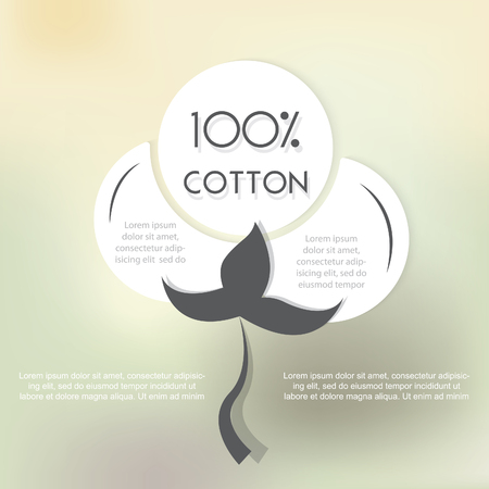 Cotton label with place for text. Vector illustration Illustration