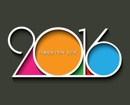january: 2016 Feliz A�o Nuevo fondo para la tarjeta de saludos Vectores