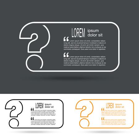 questionably: Creative question mark icon. FAQ sign. vector illustration.