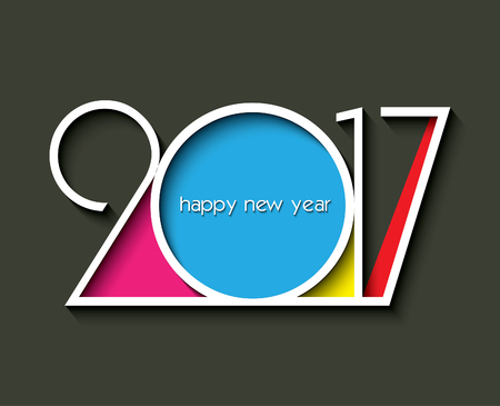2017 new year creative design for your greetings card