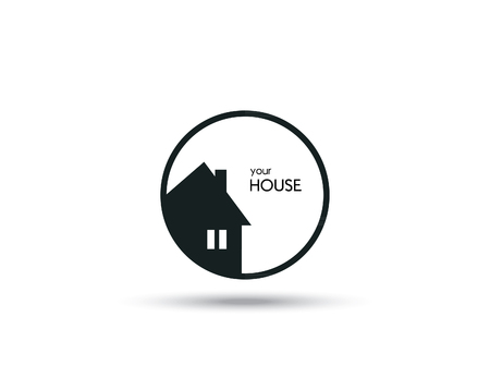 house sale: House Icon  Vector Illustration Illustration