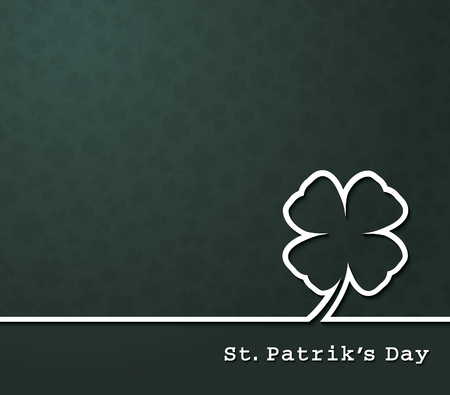 clover banner: Irish four leaf lucky clovers background for Happy St. Patricks Day
