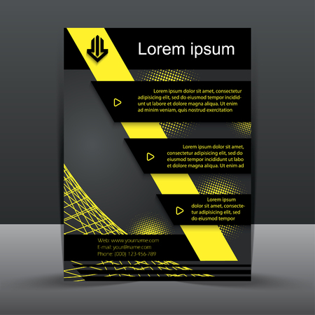 publishing: Business flyer template, corporate brochure or cover design can be use for publishing, print and presentation. Illustration