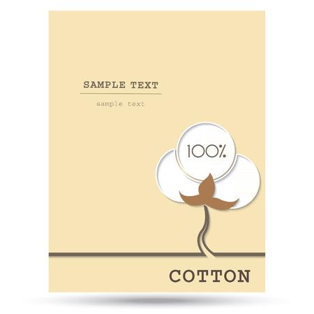 Cotton-Symbol mit Platz für Text. Vektor-Illustration. Vektorgrafik