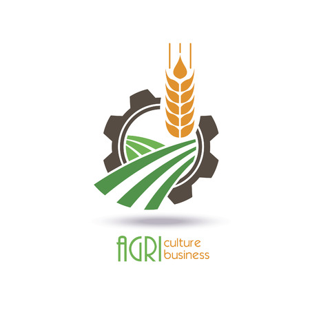 germinate: Agriculture icon Template Design. farm, nature, ecology. Vector