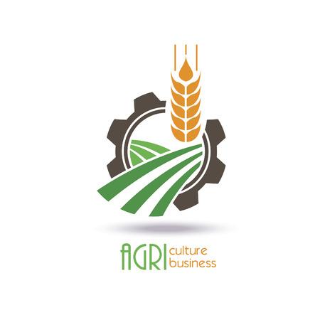 agricultura: icono de la agricultura plantilla de diseño. granja, naturaleza, ecología. Vector Vectores