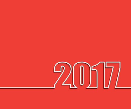 january: 2017 New Year background. Vector illustration