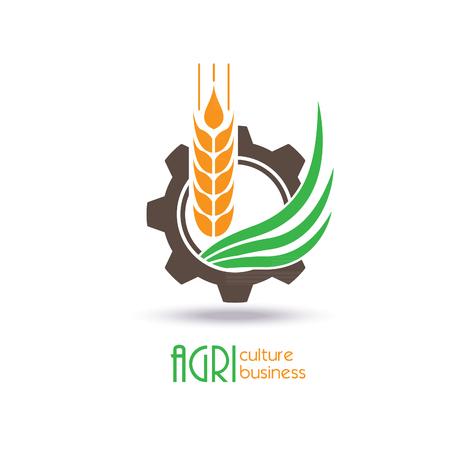 Agriculture Logo Template Design. Icône, signe ou symbole. ferme, nature, écologie. Vector illustration Logo