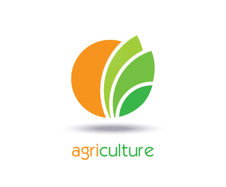 agriculture field: Agriculture Logo Template Design. Icon, Sign or Symbol. farm, nature, ecology. Vector flat design