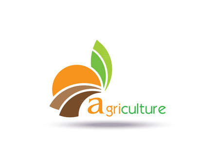 Agriculture Logo Template Design. Icon, Sign or Symbol, organic, farm, nature, ecology. Vector flat design