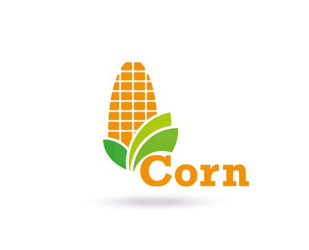 Landbouw pictogram sjabloonontwerp. Maïs, teken of symbool. Farm. Vector plat ontwerp Stock Illustratie